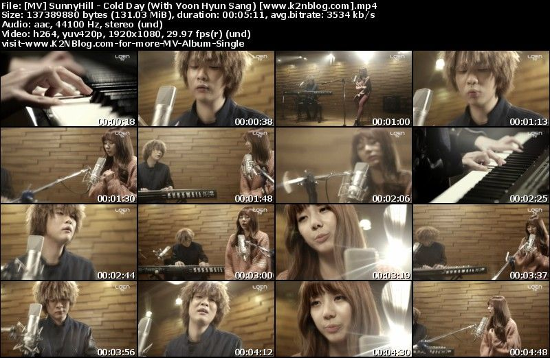 [MV] SunnyHill - Cold Day (With Yoon Hyun Sang) [HD 1080p Youtube]