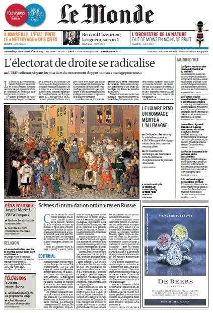 Le Monde du Dimanche 31 Mars Lundi 01 Avril 2013
