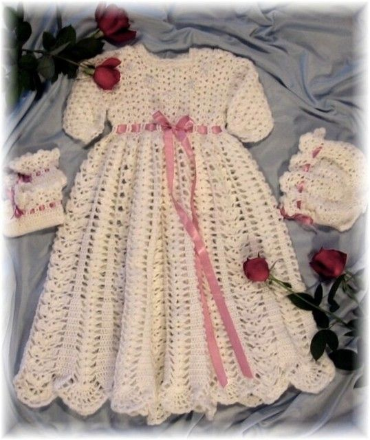 christening gowns crochet patterns | eBay