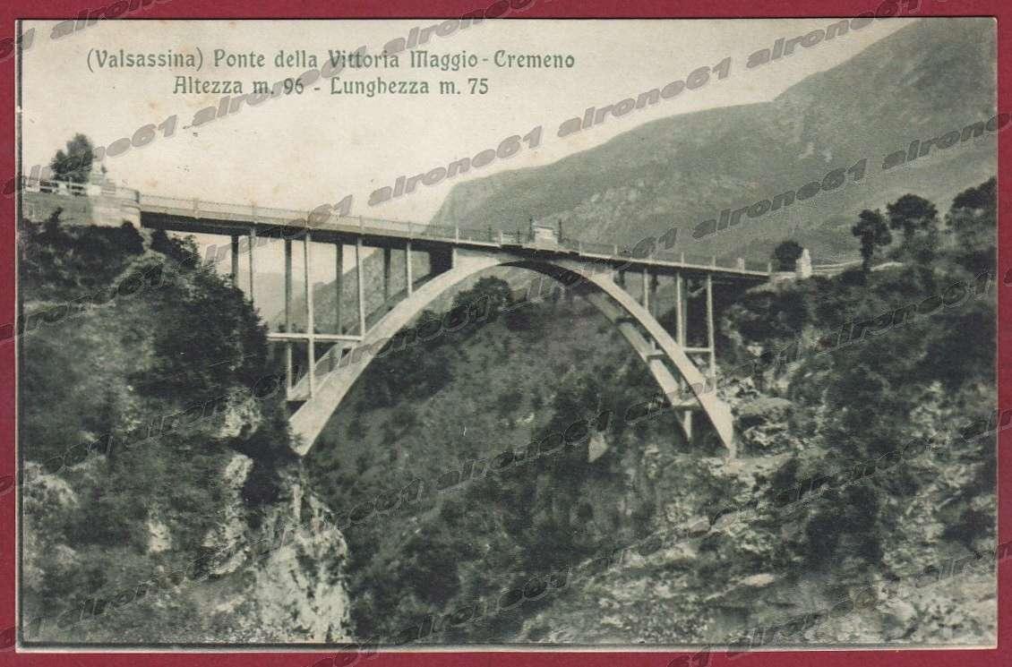 Cameretta A Ponte A Lecco.Lecco Cremeno 20 Maggio Ponte Valsassina Cartolina Viaggiata